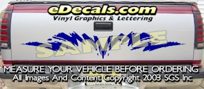 HDA522 Tribal Tailgate Accent Graphic Decal