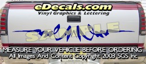 HDA524 Tribal Tailgate Accent Graphic Decal