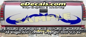 HDA525 Tribal Tailgate Accent Graphic Decal