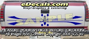 HDA526 Tribal Tailgate Accent Graphic Decal