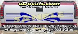 HDA527 Tribal Tailgate Accent Graphic Decal