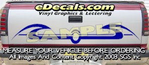 HDA528 Tribal Tailgate Accent Graphic Decal
