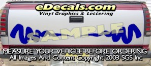 HDA529 Tribal Tailgate Accent Graphic Decal
