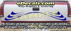 HDA530 Tribal Tailgate Accent Graphic Decal