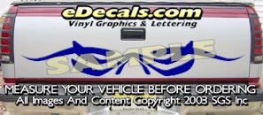 HDA532 Tribal Tailgate Accent Graphic Decal