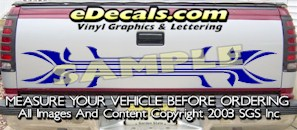 HDA533 Tribal Tailgate Accent Graphic Decal