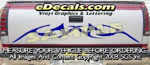 HDA534 Tribal Tailgate Accent Graphic Decal