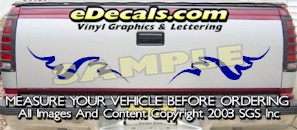 HDA535 Tribal Tailgate Accent Graphic Decal