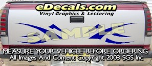 HDA536 Tribal Tailgate Accent Graphic Decal
