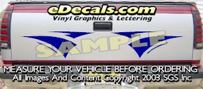 HDA537 Tribal Tailgate Accent Graphic Decal