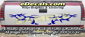 HDA538 Tribal Tailgate Accent Graphic Decal