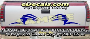 HDA541 Tribal Tailgate Accent Graphic Decal
