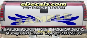 HDA542 Tribal Tailgate Accent Graphic Decal