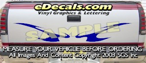 HDA543 Tribal Tailgate Accent Graphic Decal