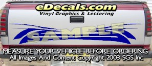 HDA544 Tribal Tailgate Accent Graphic Decal
