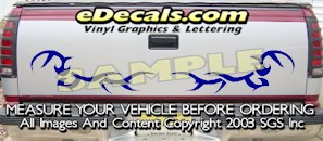 HDA545 Tribal Tailgate Accent Graphic Decal