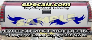 HDA546 Tribal Tailgate Accent Graphic Decal
