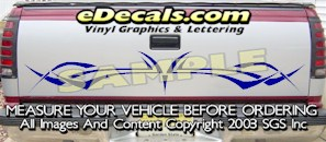 HDA547 Tribal Tailgate Accent Graphic Decal