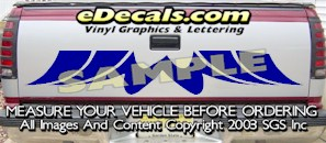 HDA548 Tribal Tailgate Accent Graphic Decal