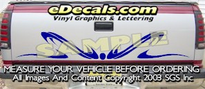 HDA550 Tribal Tailgate Accent Graphic Decal
