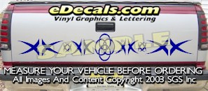 HDA552 Tribal Tailgate Accent Graphic Decal