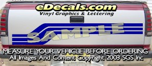 HDA555 Tribal Tailgate Accent Graphic Decal