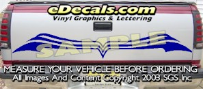 HDA556 Tribal Tailgate Accent Graphic Decal