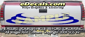 HDA557 Tribal Tailgate Accent Graphic Decal