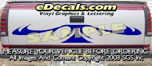 HDA558 Tribal Tailgate Accent Graphic Decal