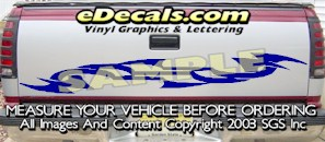 HDA559 Tribal Tailgate Accent Graphic Decal