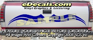 HDA562 Tribal Tailgate Accent Graphic Decal