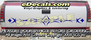 HDA563 Tribal Tailgate Accent Graphic Decal