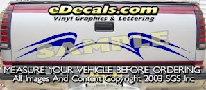 HDA564 Tribal Tailgate Accent Graphic Decal