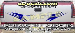 HDA565 Tribal Tailgate Accent Graphic Decal