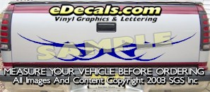 HDA566 Tribal Tailgate Accent Graphic Decal