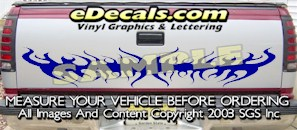 HDA568 Tribal Tailgate Accent Graphic Decal