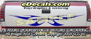 HDA570 Tribal Tailgate Accent Graphic Decal