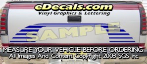 HDA573 Tribal Tailgate Accent Graphic Decal