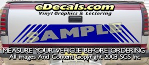HDA574 Tribal Tailgate Accent Graphic Decal