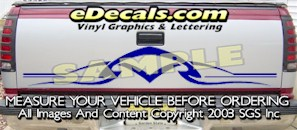 HDA576 Tribal Tailgate Accent Graphic Decal