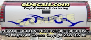 HDA577 Tribal Tailgate Accent Graphic Decal