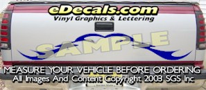 HDA578 Tribal Tailgate Accent Graphic Decal