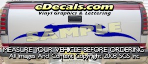 HDA579 Tribal Tailgate Accent Graphic Decal