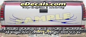 HDA580 Tribal Tailgate Accent Graphic Decal
