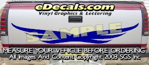 HDA584 Tribal Tailgate Accent Graphic Decal