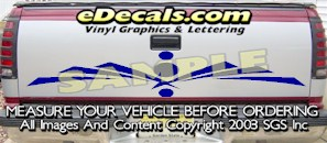 HDA585 Tribal Tailgate Accent Graphic Decal