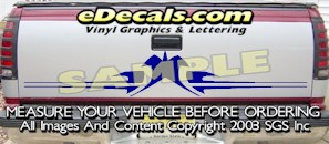 HDA586 Tribal Tailgate Accent Graphic Decal