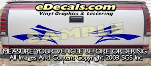 HDA588 Tribal Tailgate Accent Graphic Decal