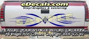 HDA589 Tribal Tailgate Accent Graphic Decal
