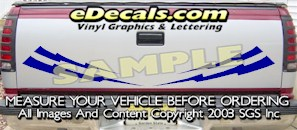 HDA590 Lightning Bolts Tribal Tailgate Accent Graphic Decal